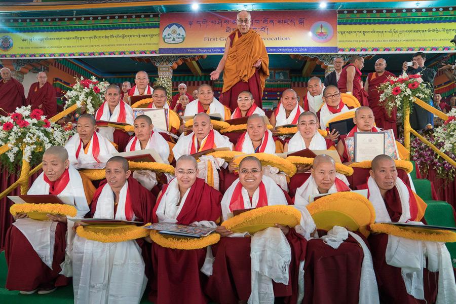Jetsunma attends the Geshe-ma graduation – Dongyu Gatsal